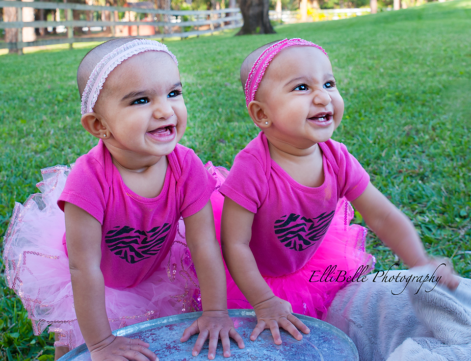 ten month twin girls